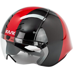 Kask Mistral Casco, black/red